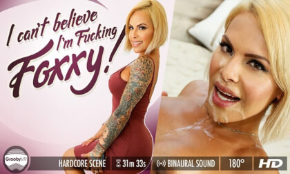 Foxxy – I Can't Believe I'm Fucking Foxxy! - Blonde Busty Shemale